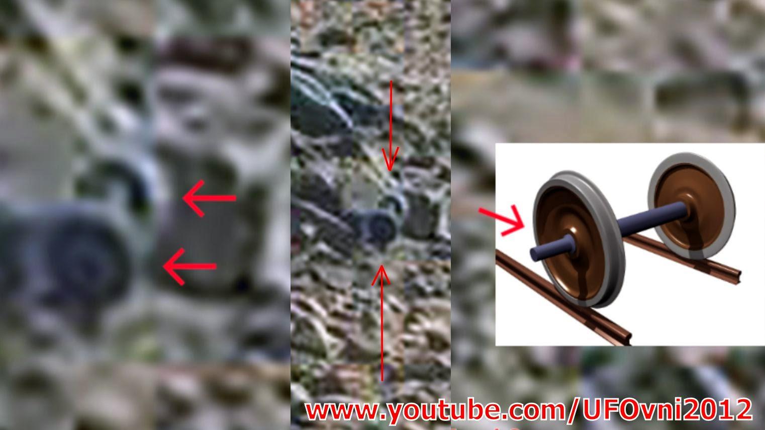 Ancient Aliens On Mars : Semblable à un essieu à roues objet se trouve sur la surface de Mars