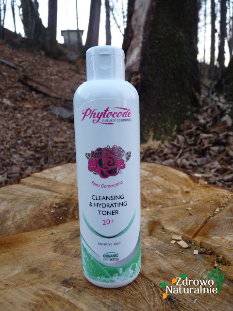 Phytocode - Linia Rosa Damascena - Oczyszczający i nawilżający tonik 20+