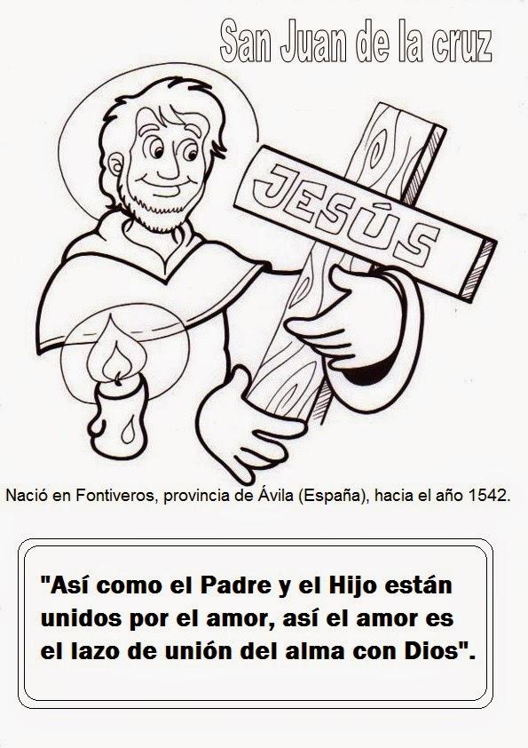 El Rincón de las Melli: San Juan de la Cruz, dibujo para colorear y ...