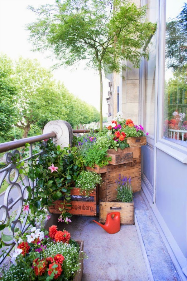 Cajas de madera vintage guia de jardin for Jardines vintage