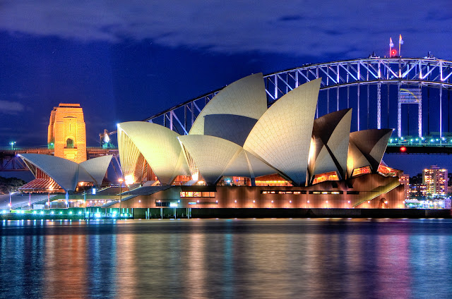 Sydney Opera House at night - Australia