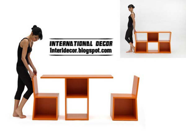 Amazing Bookshelf Design Turn Into Table And Chairs