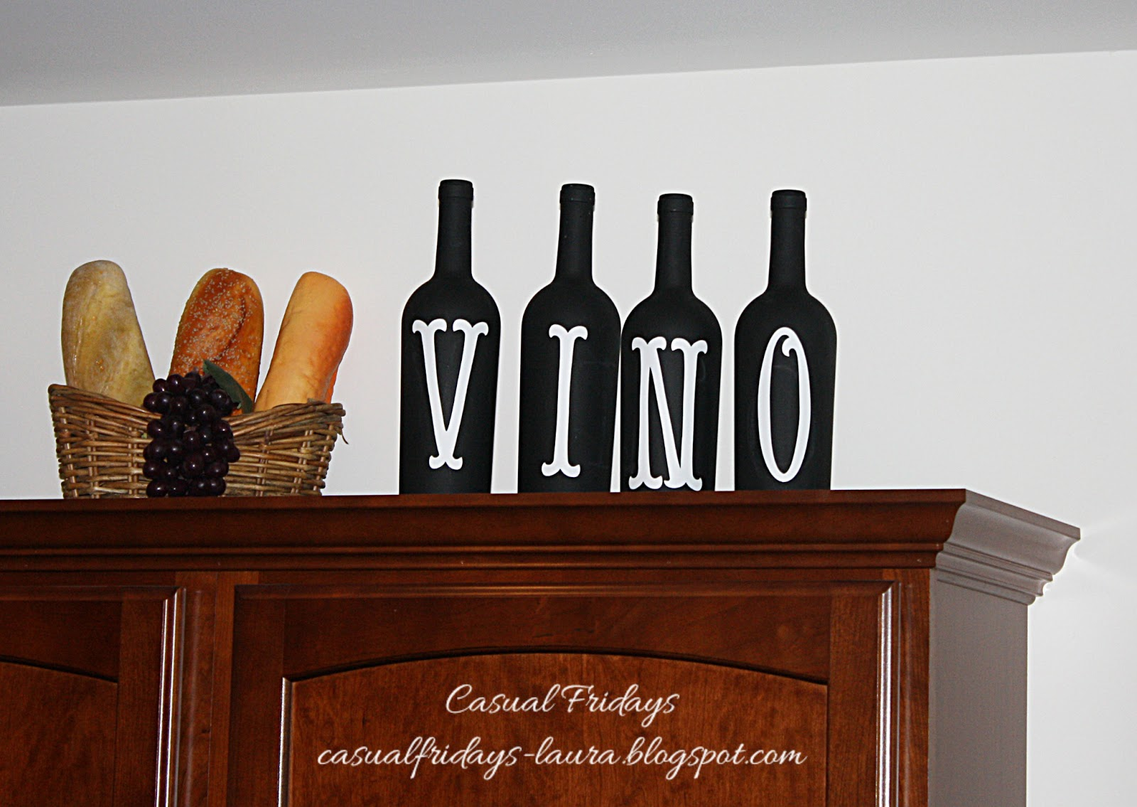 Chalkboard wine bottles from Casual Fridays