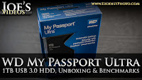 WD My Passport Ultra, 1TB External USB 3.0 Hard Drive, Unboxing & Benchmarks | Joe's Videos