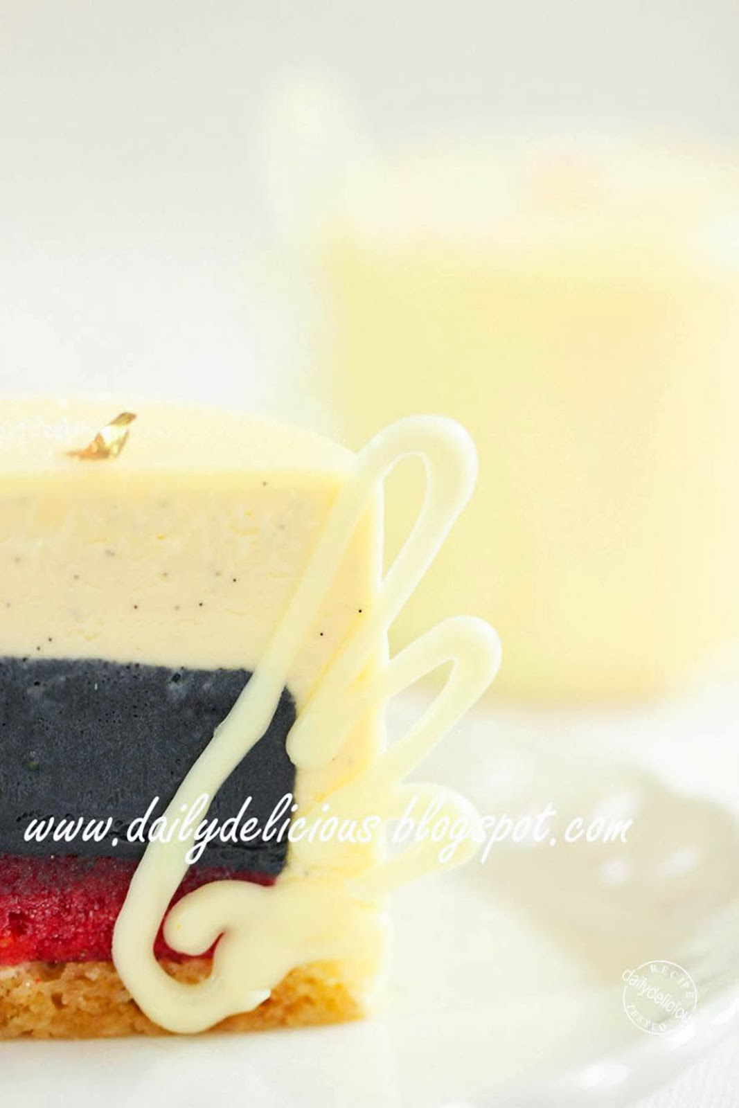 dailydelicious angel and demon dark and white chocolate entremets