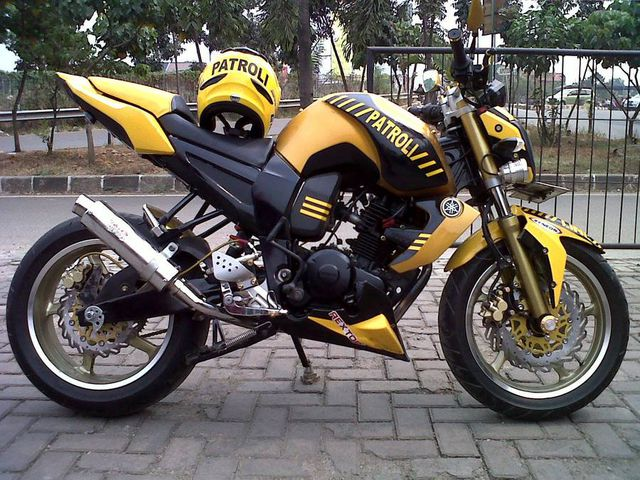 Modifikasi Yamaha Byson Patroli Street Fighter