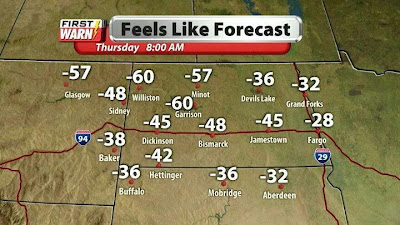 forecast, cold, lake sakakawea
