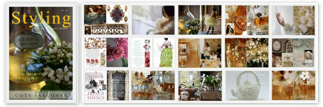 September issue of styling magazine - 2013 - celebrating scents, essences and fragrances