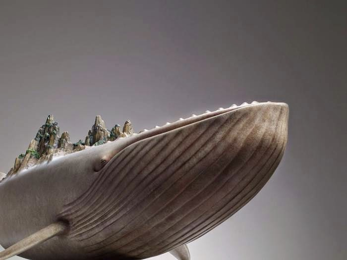 Ruilin Wang's Whales Sculptures Carry World on its Back