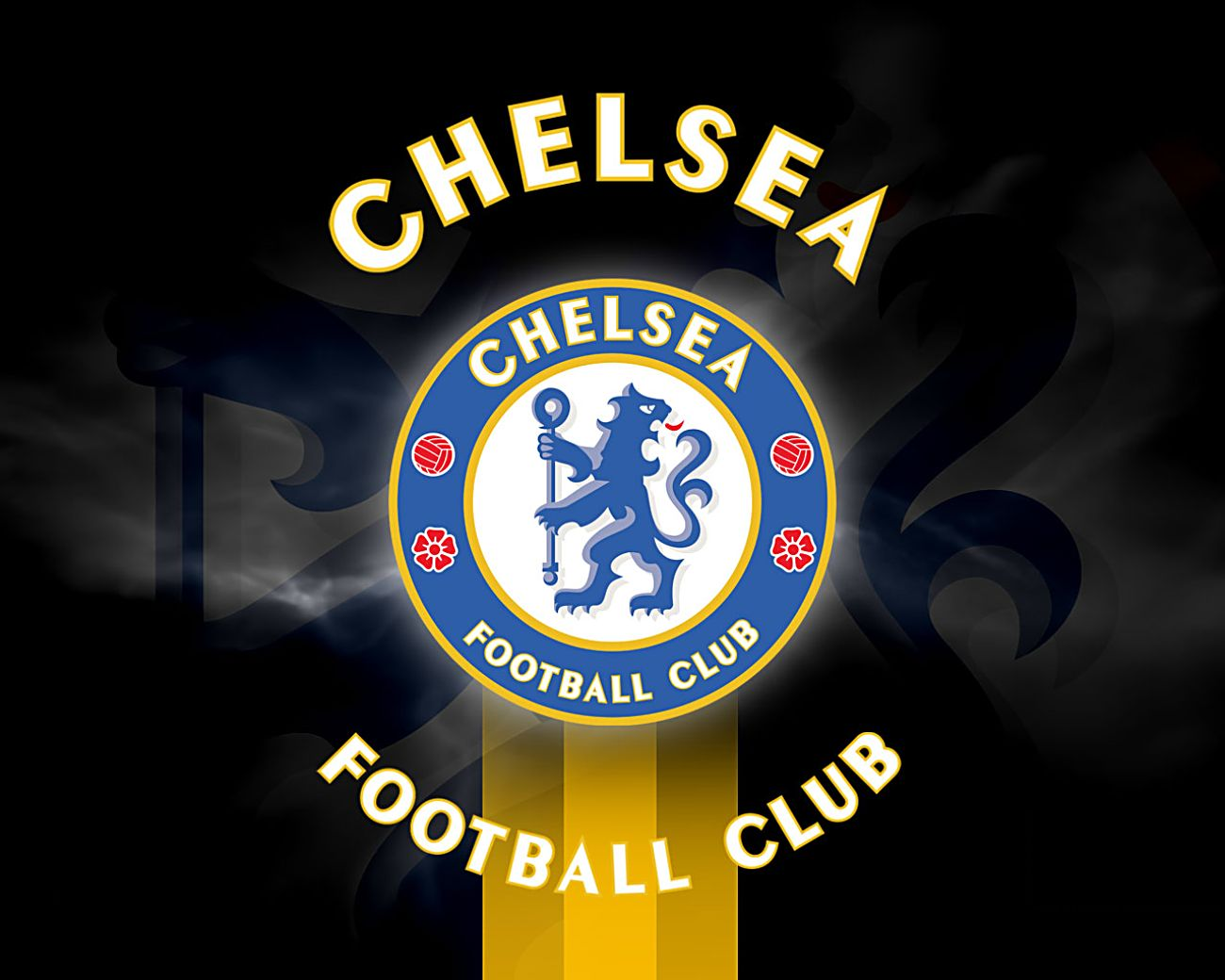 Football game the collection of chelsea logo chelsea logo collection on black background voltagebd Gallery