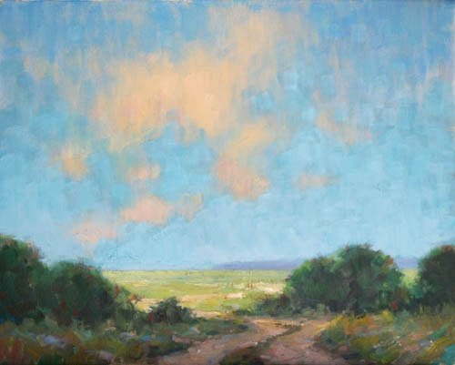 Steve Allrich: Landscape painting, Cape Cod: North, Road