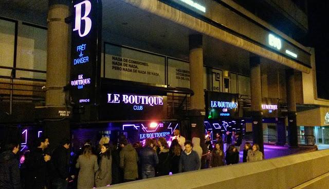 Entrada, Le Boutique disco Madrid