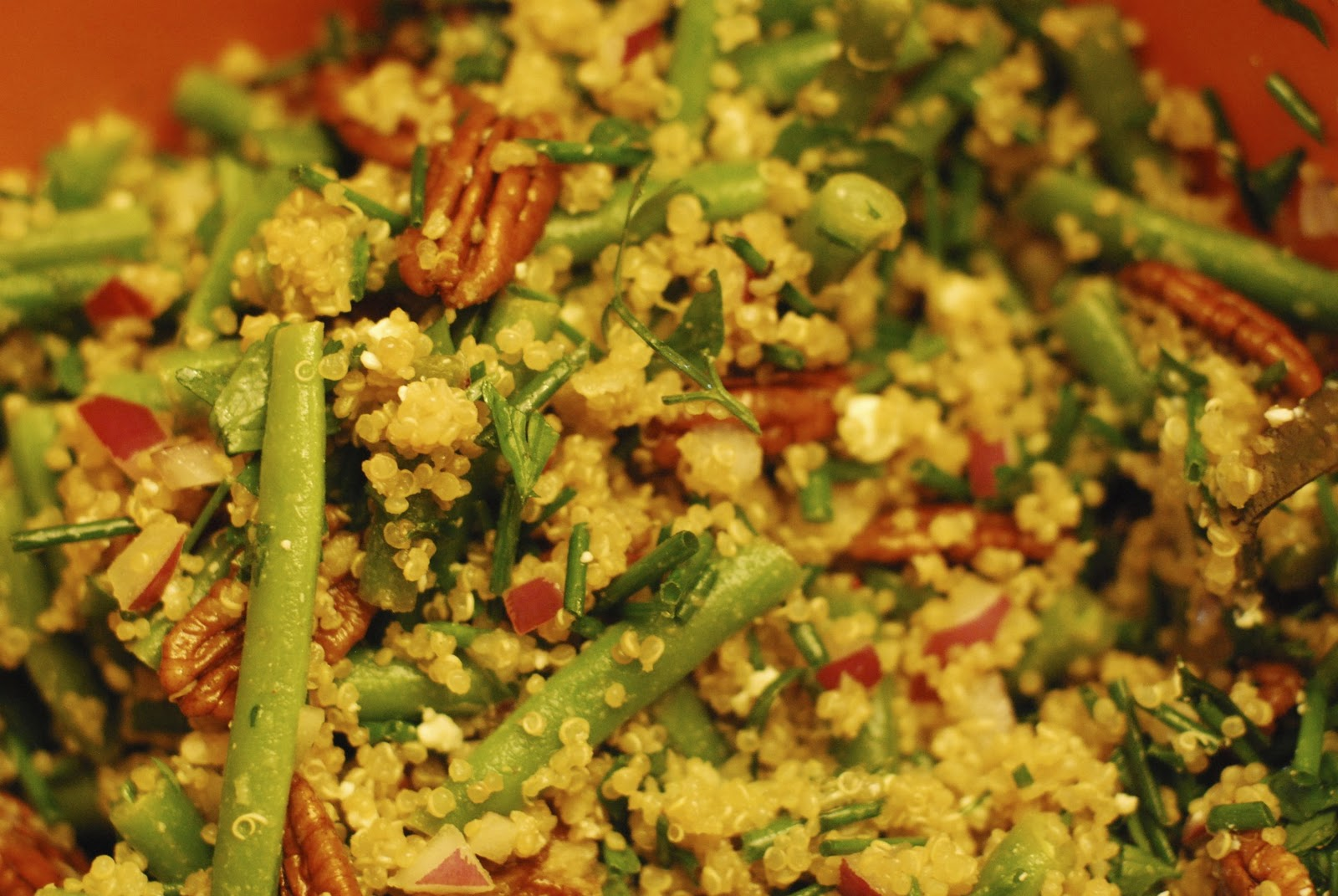 Blackened Green Bean And Quinoa Salad Recipe — Dishmaps