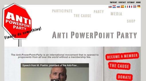 Terry bogart online en suiza crearon un partido pol tico anti powerpoint - Fundar un partido politico ...
