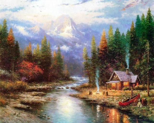 Ảnh nghệ thuật tuyệt đẹp của Thomas Kinkade'