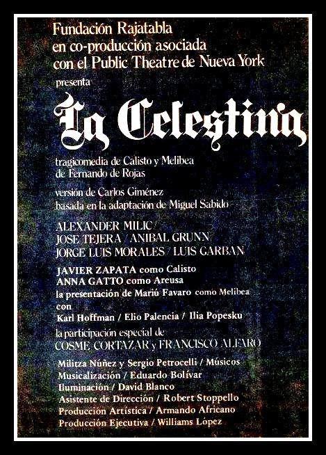 LA CELESTINA de Fernando Rojas, dirección Carlos Giménez