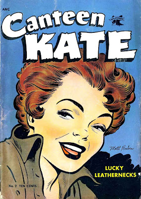Canteen Kate v1 #2 st john 1950s golden age comic book cover art by Matt Baker