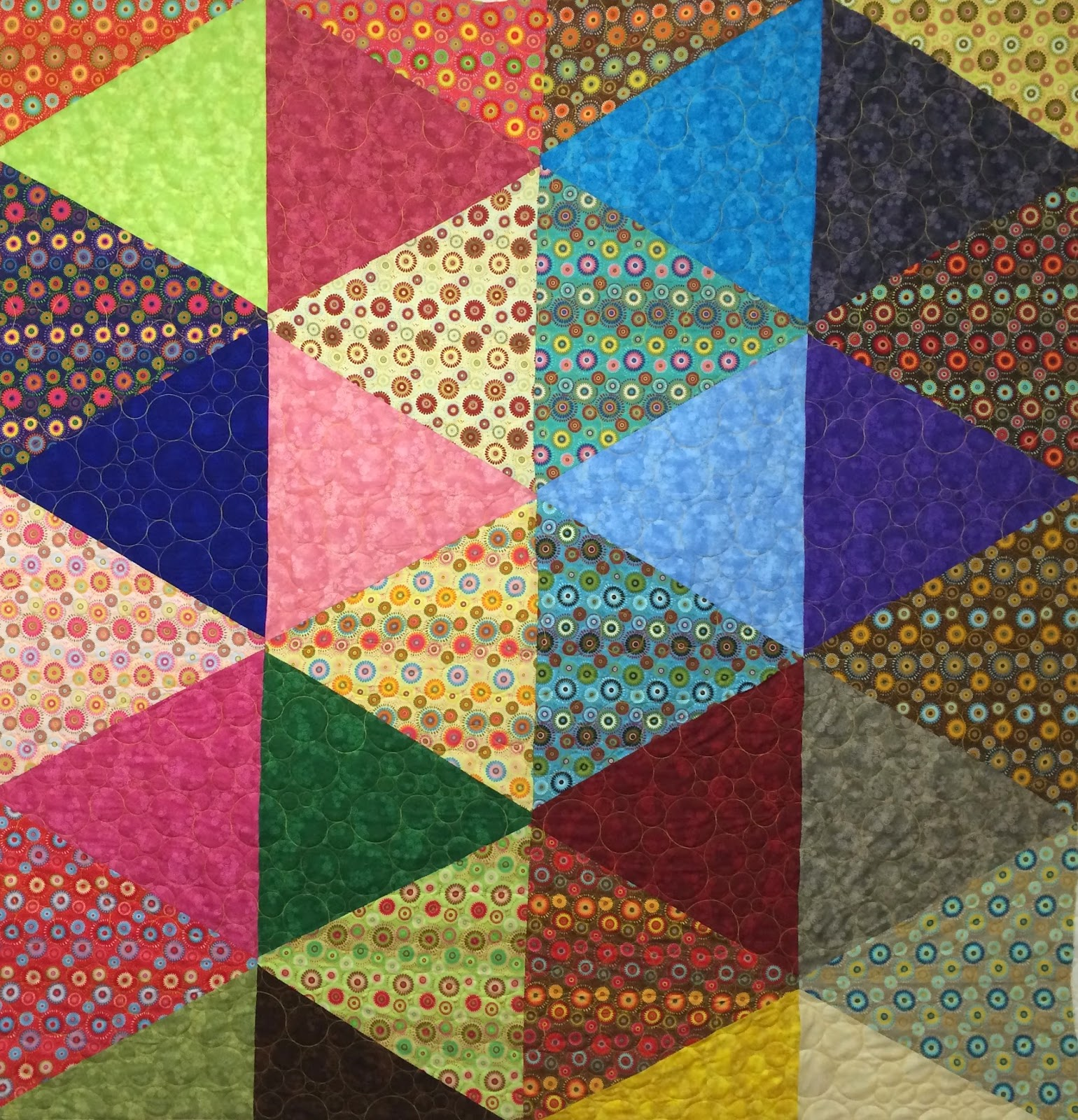 Laura Joy's Triangle Quilt