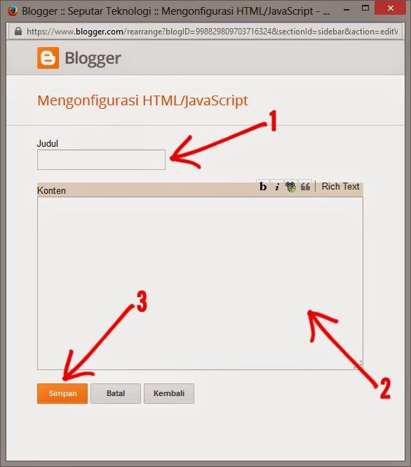 Cara Membuat Widget Search Box Keren Blogger