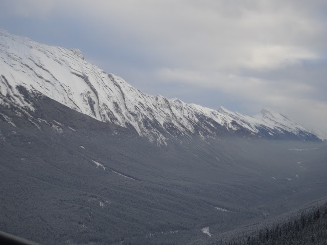 view from sulphur mountain gondola