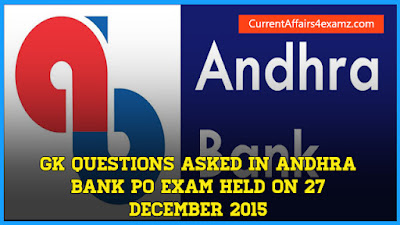 Andhra Bank PO 2015 Questions