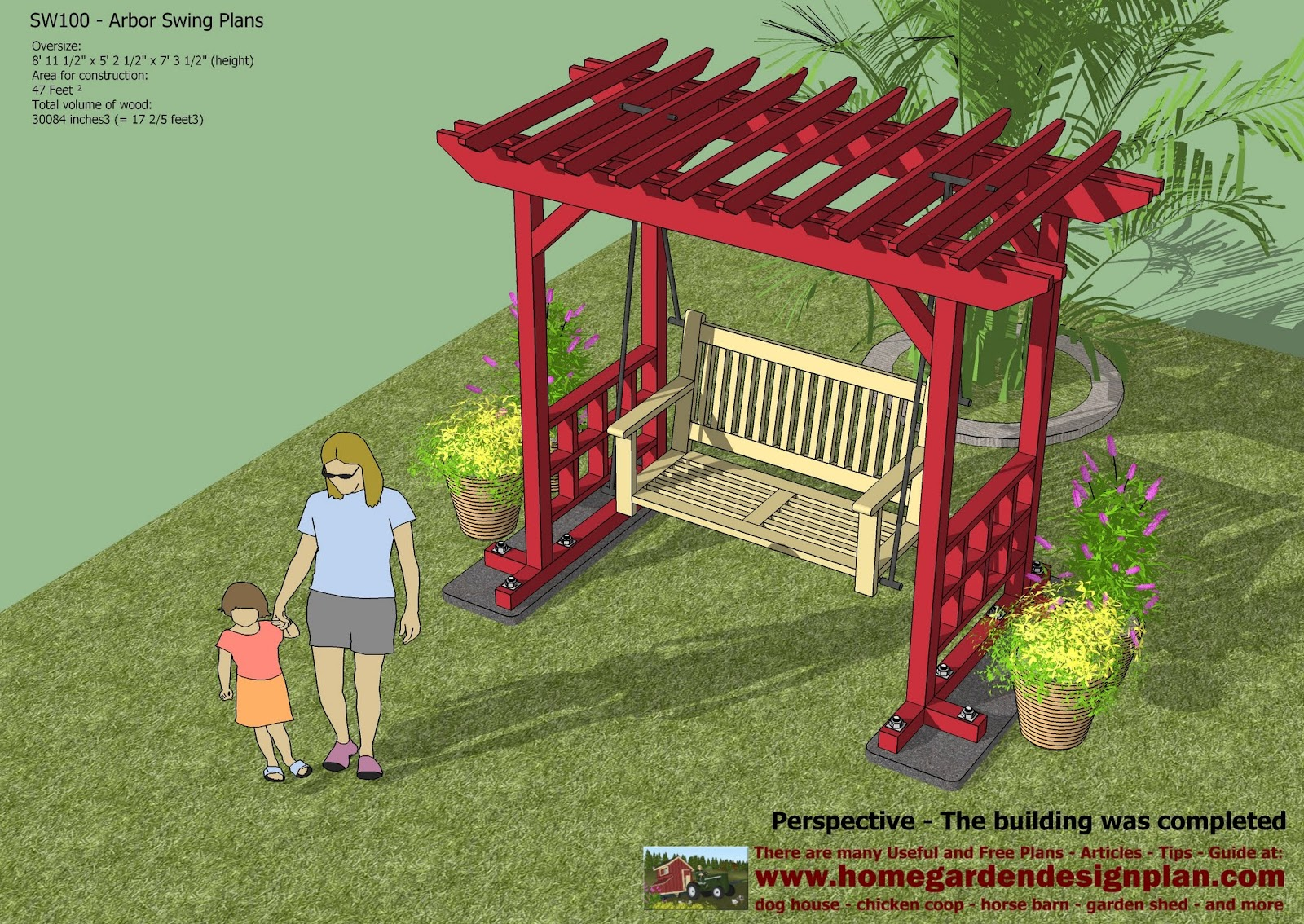 ... Arbor Swing Plans - Swing Woodworking Plans - Outdoor Furniture Plans
