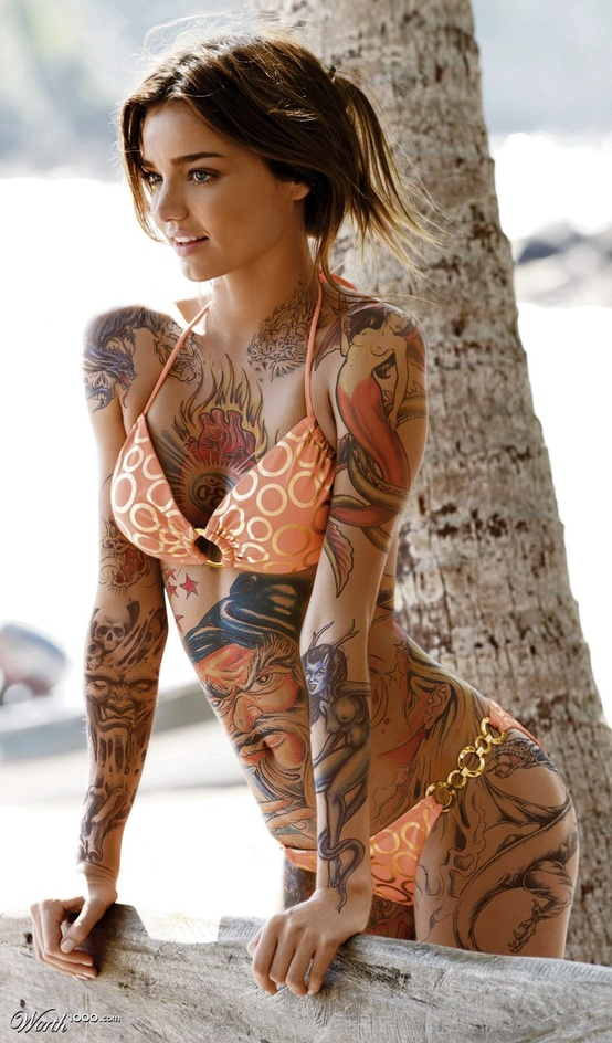 Full Body Tattoos Girls