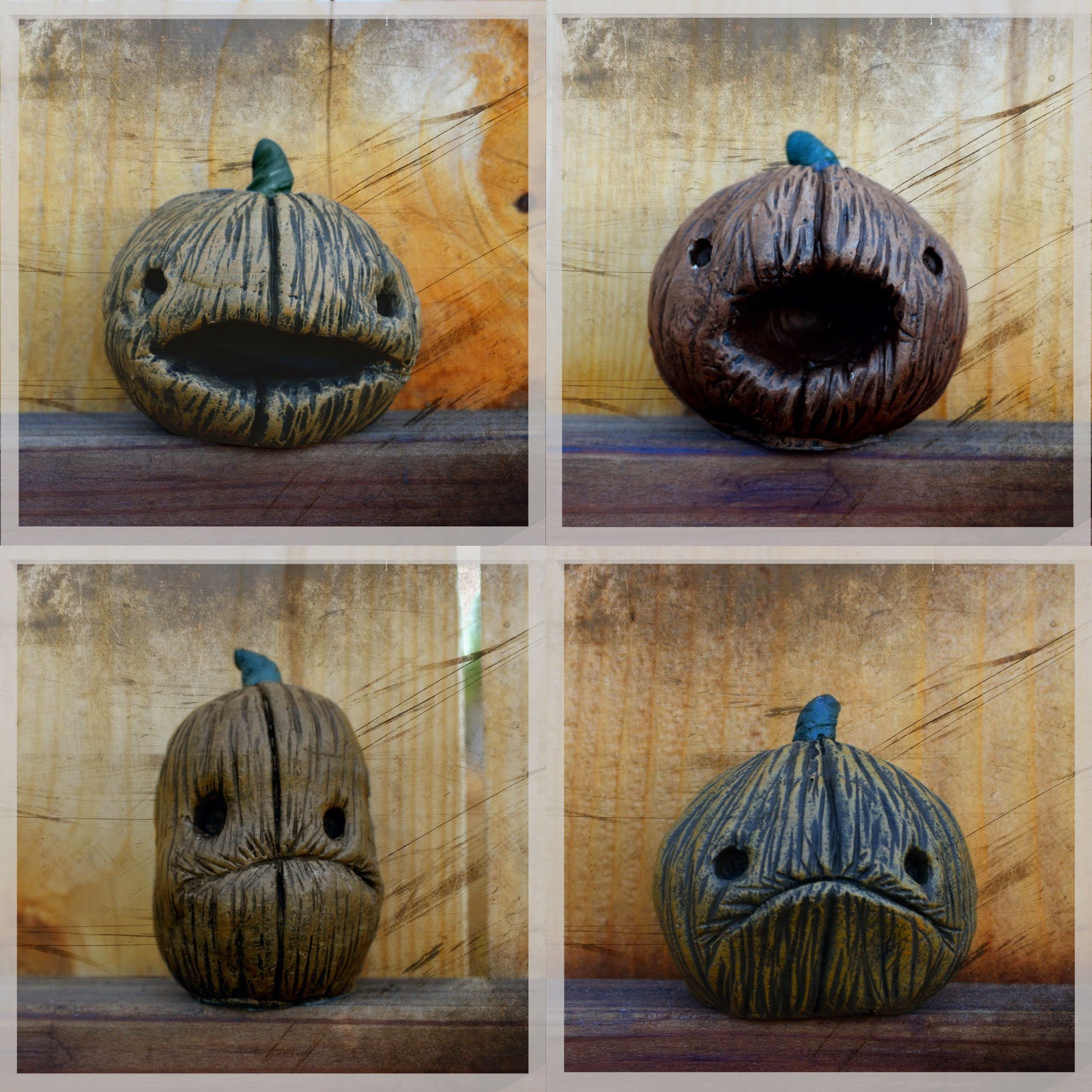 Pumpkin Resin Figures by Vanessa Ramirez