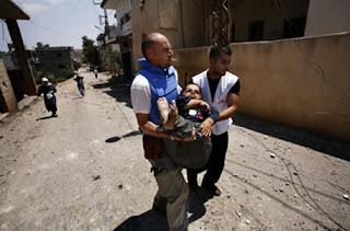 Foto da atuação dos Médicos sem Fronteiras no Libano