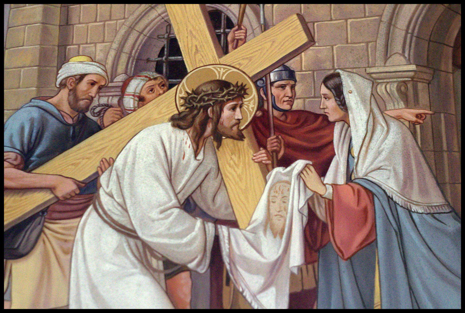Cross Tipped Churches: Veronica wipes the face of Jesus
