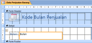 Rancang Sub Form database