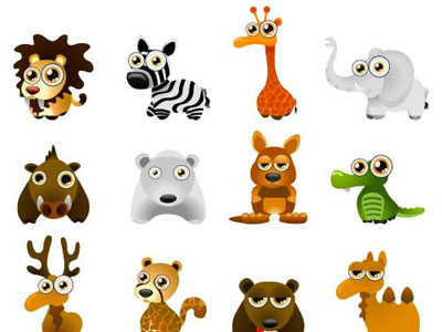 wild animal vector cartoon