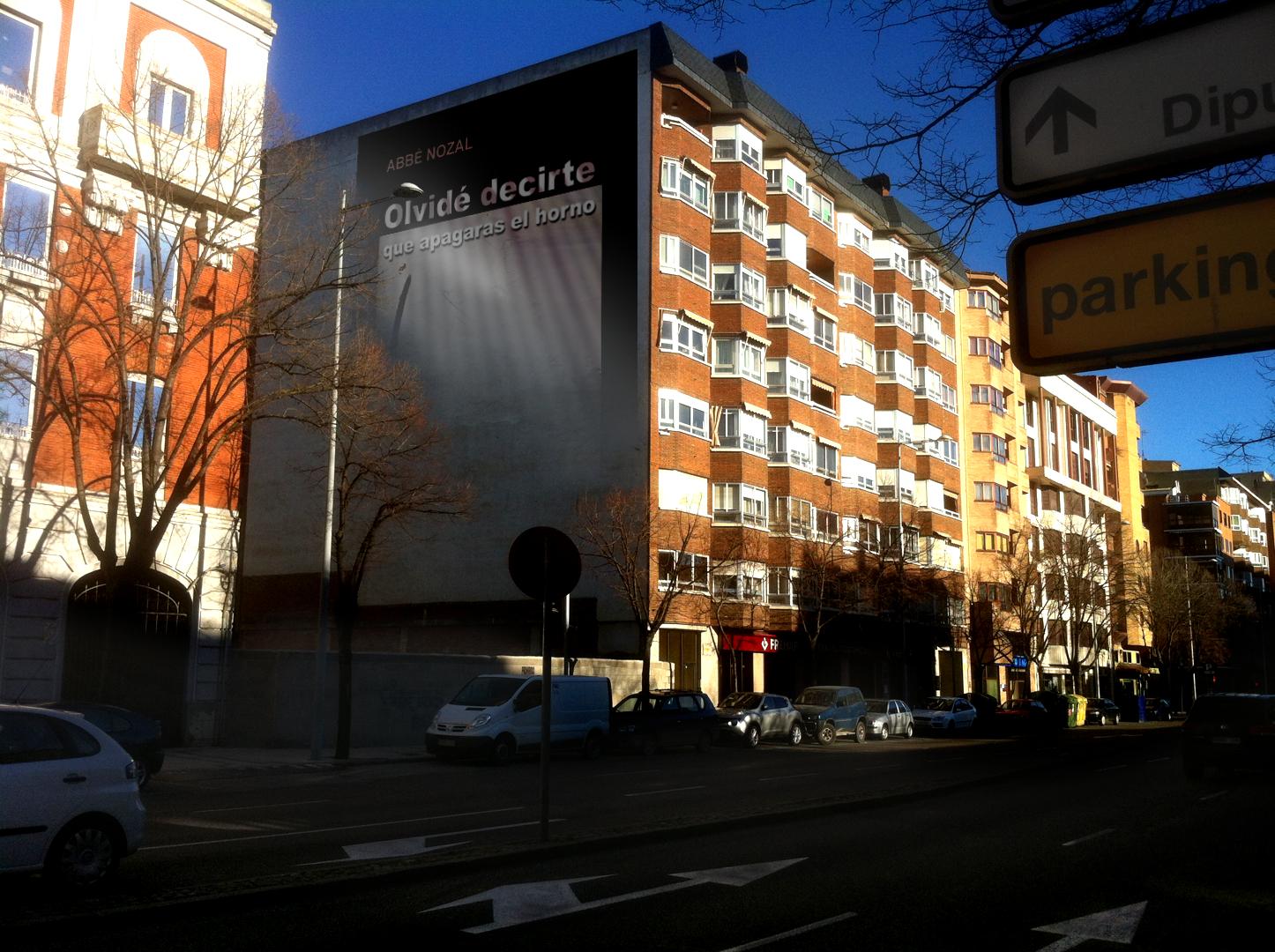 Muro publicitario permanente, 2014 Abbé Nozal