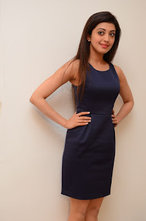 Pranitha looks beautiful in a Short black dress for Dynamite movie Interview