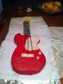 Tarta Fondant guitarra Electrica
