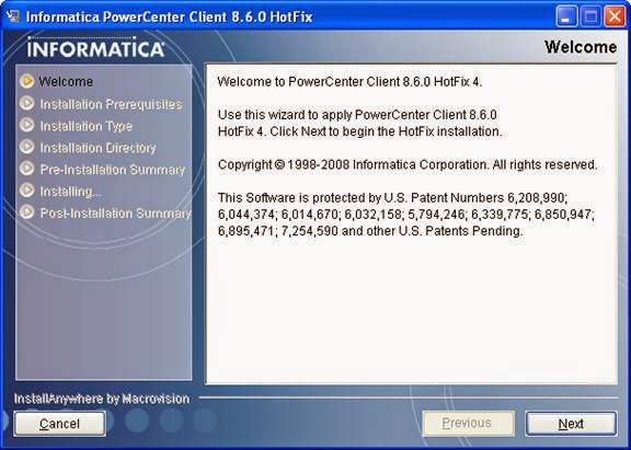 Install informatica powercenter client 8 6 0 hotfix4 for Informatica 9 5 architecture