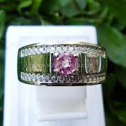 Cincin Batu Permata Pink Sapphire ceylon - SP 648