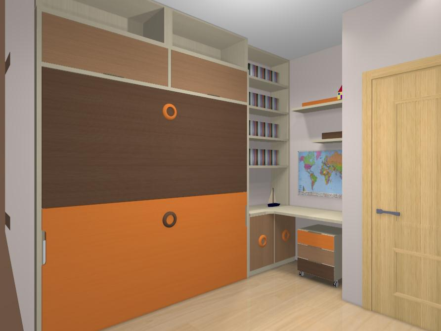 Amueblar habitaci n con literas abatibles - Herrajes para canapes ...