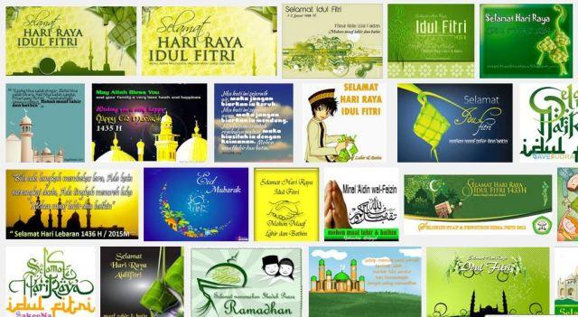 Koleksi Gambar Kartu Ucapan Selamat Idul Fitri