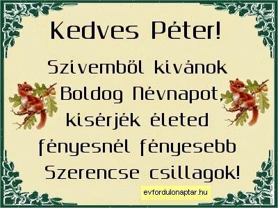 Június 29 - Péter névnap