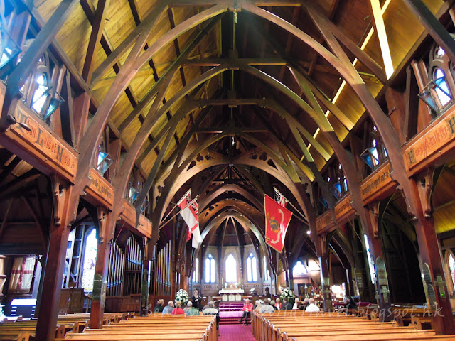 wellington, st paul wooden church