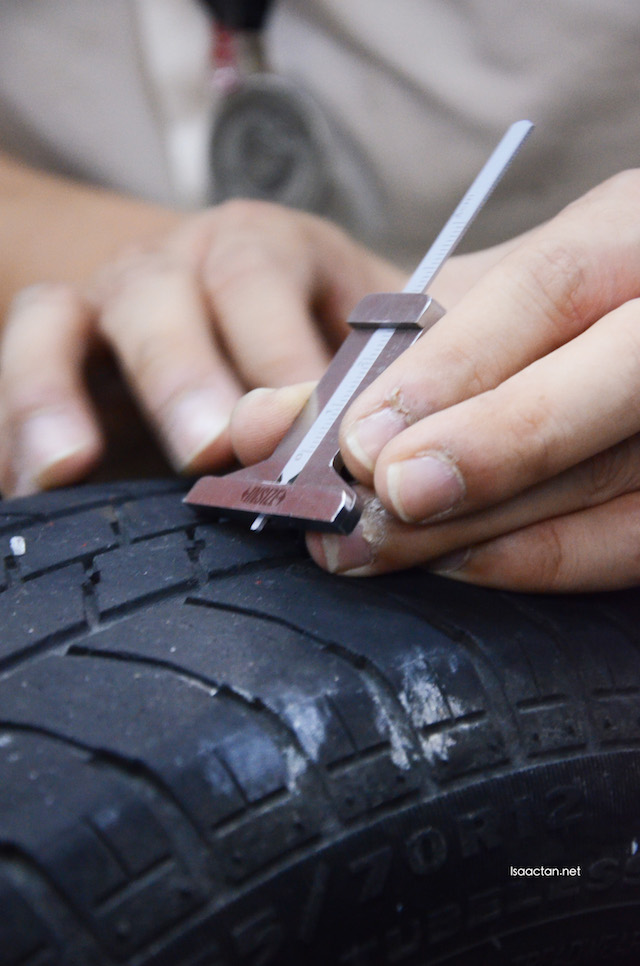 A rather useful tool to check the groove, whether our tyres are too worn down (bald) or not