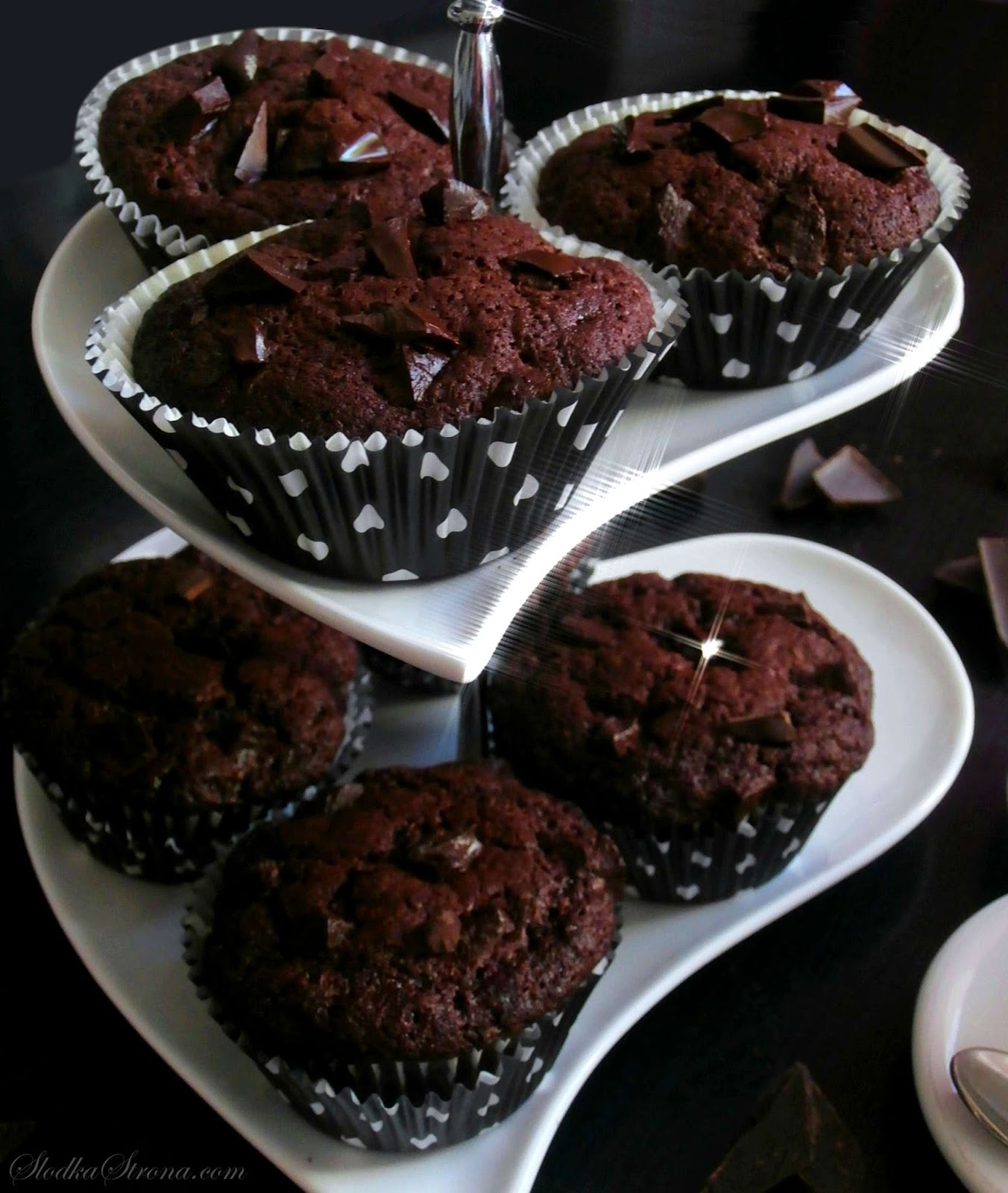 Muffinki Czekoladowe - Najlepsze - Przepis - Słodka Strona