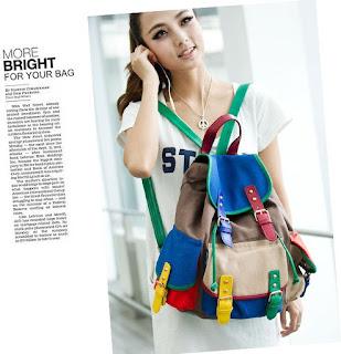 Tas Korea Wanita Model Multicolor Terbaru Februari 2016