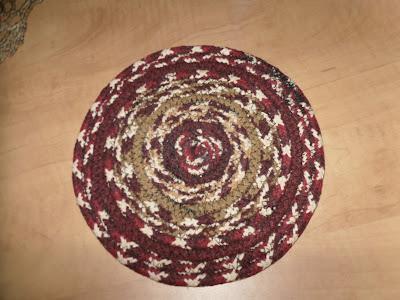 Braided trivet from Bittersweet Farm Mercantile