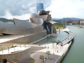 Frank Gehry's Guggenheim museum in Bilbao, Northern Spain