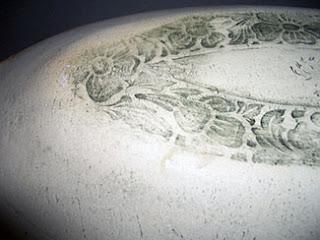 Ginko Leaf Platter, patina, by Lori Buff