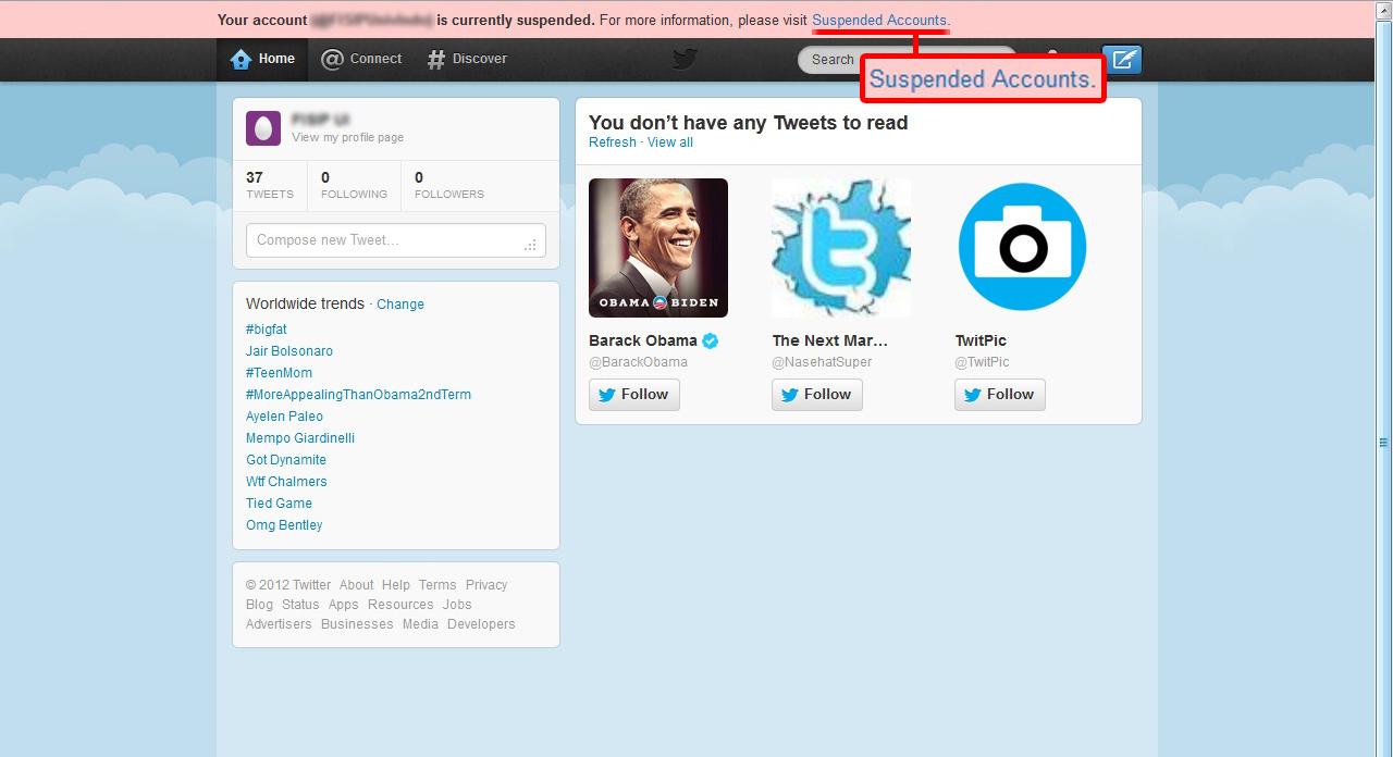 Cara Mengembalikan akun Twitter yang di Suspend