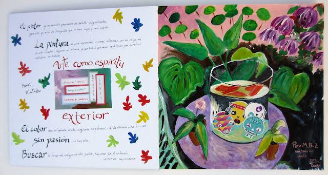 Cuaderno recibido por EmeBeZeta en la Segunda Edición de los Ladrones de Cuadernos, obra de la ladrona de arte Conxy