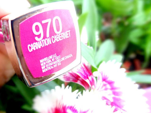 Maybelline Colorsational Rebel Bloom Lipstick Carnation Cabernet #970